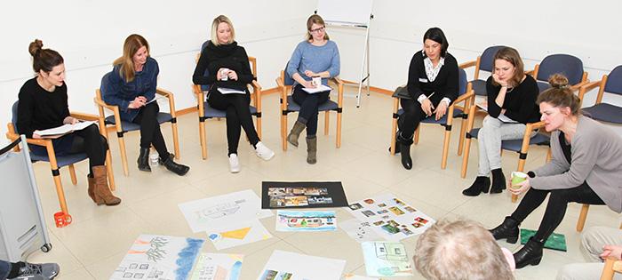 Besprechung der gemalten Bilder