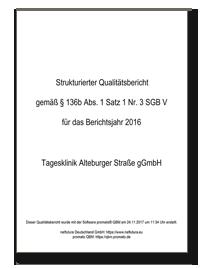 Titelbild Qualitaetsbericht 2016