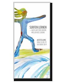 """Flyer zur Ausstellung """"surfen lernen"""""""