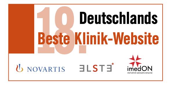 Nominiert für Deutschlands Beste Klinik-Website